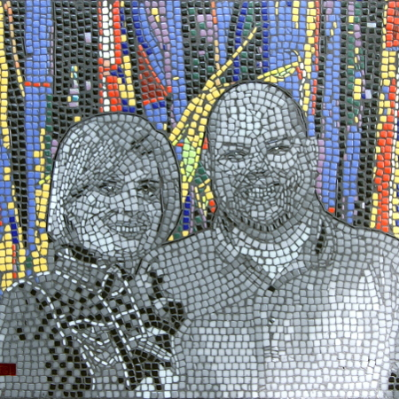 mosaic Portrait of Aaron and Natalie