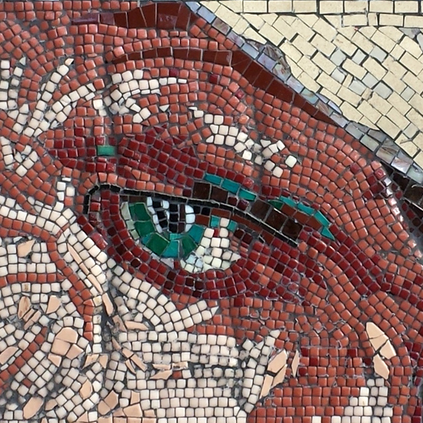 mosaic portrait of Keith Richards guitarist of the Rolling Stones