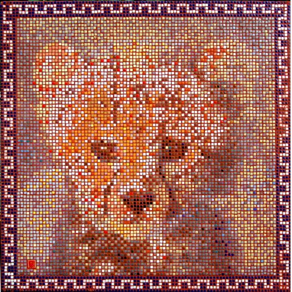 Cheetah cub mosaic by Frederic Lecut