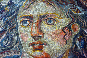 detail of the looted mosaic