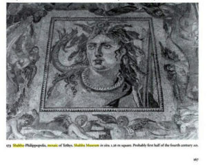 a picture of the looted mosaic in a book about Roman mosaics