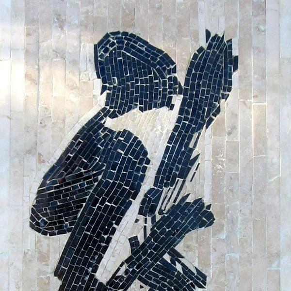 Yamaoka Tesshu's Dragon calligraphy Mosaic