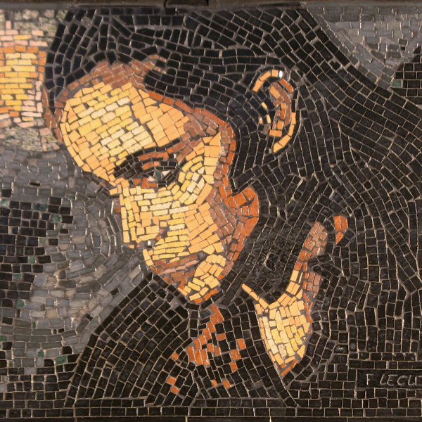 Mosaic Portrait of French Actress Emmanuelle Beart