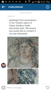 Offer to sell a mosaic from Turkey