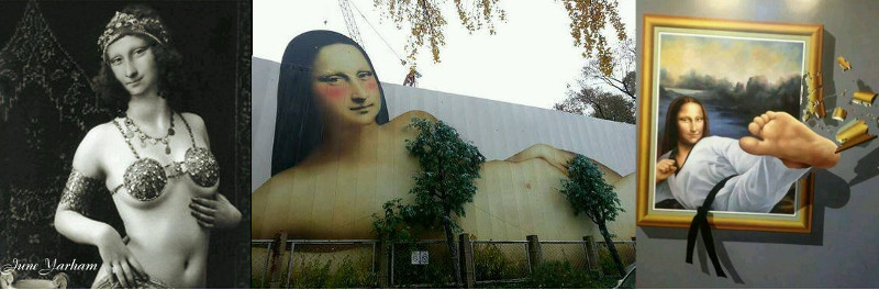 3 very different but undoubtedly Mona LIsas
