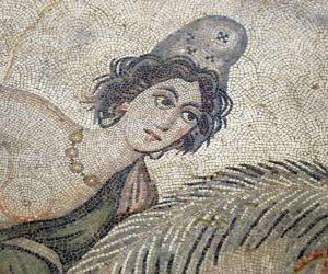 Mosaic portrait of Amazon Queen Melanipe