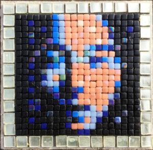 Variation #5 of Asian Face mosaic portrait, Opus PIxellatum.