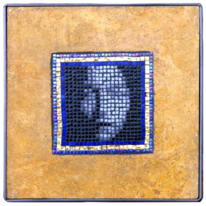 Original version of the Asian Face mosaic portait - Glass and Stone.