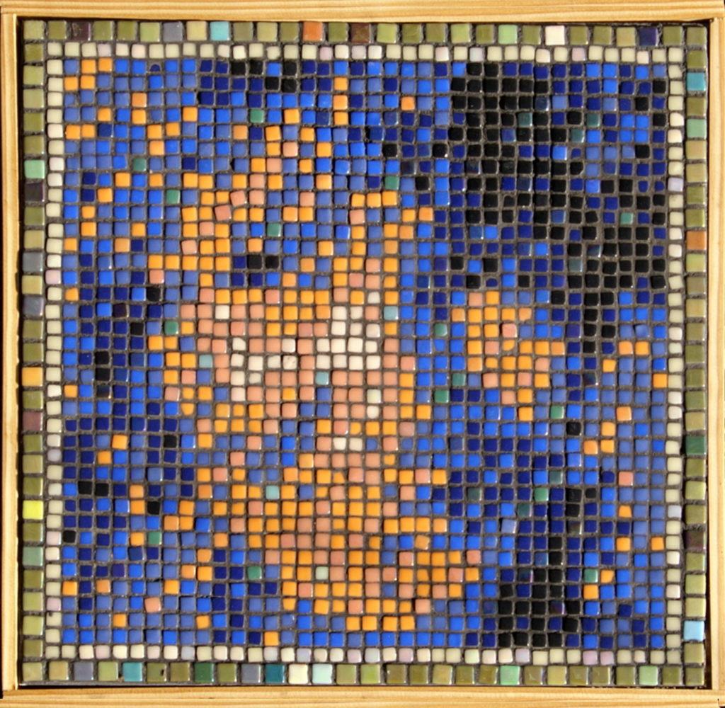 Opus Pixellatum mosaic portrait of Claire