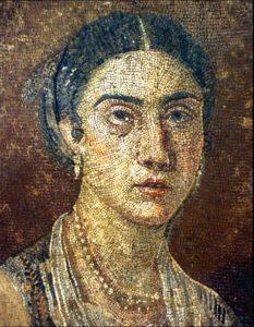 mosaic portrait of Julia, Pompeii, 1st Century AD