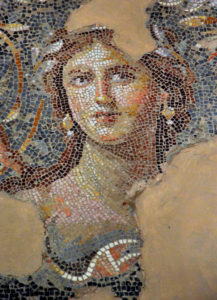 Mona LIsa of galilee mosaic portrairaelt 4th Cent AD