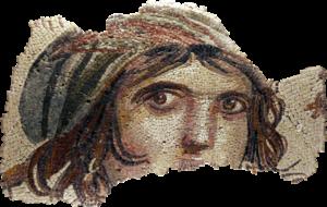 Gypsy girl of Zeugma mosaic