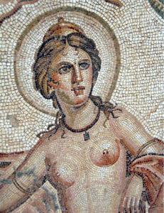 Mosaic POrtrait of Venus from Bulla Regia. Tunisia