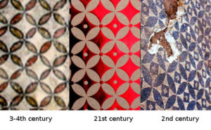 recurrence of the same decorative pattern over 20 centuries