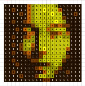 Fall colors simulation of Asian Face mosaic