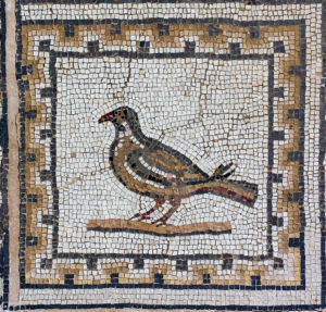 Pigeon Mosaic, mosaic of the birds, Italica, Spain