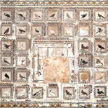 Mosaic of the BIrds, House of the BIrds, Italica, Spain, 1st century AD