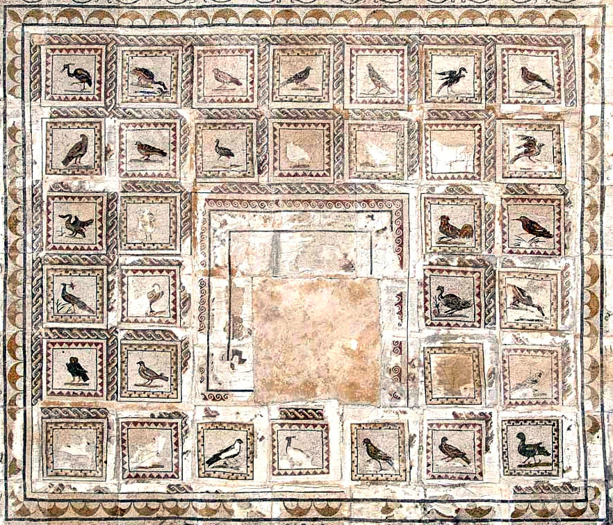 The Mosaic of the Birds in Italica, Spain