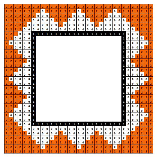 Triangle mosaic border, House of the birds, Italica, Spain