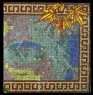 Dona Ferentes mosaic eyes portrait