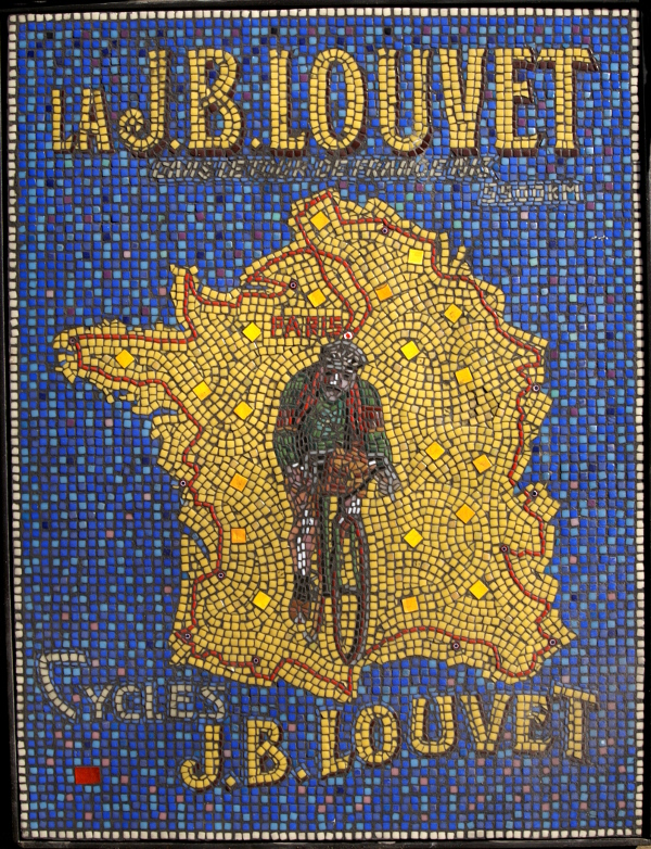 Mosaic reproduction of 1913 Tour de France Poster