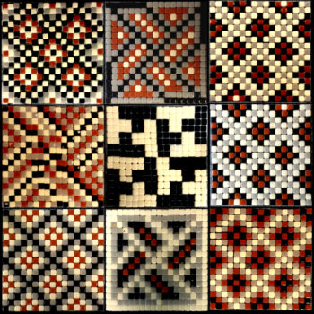 9 individual mosaics realized during the workshop