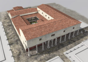 3D simulation of the house of the Grand Peristyle