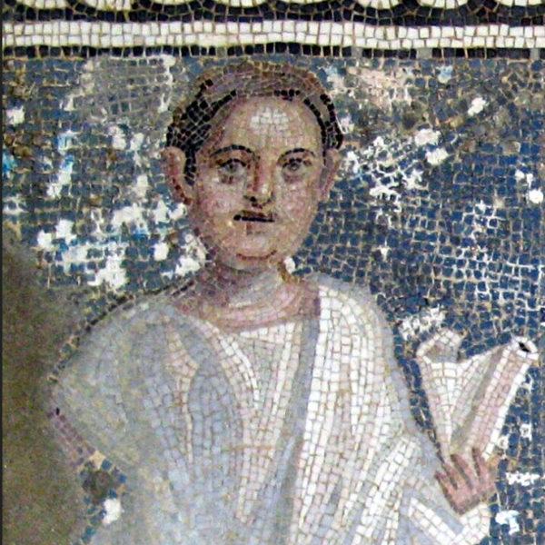 mosaic tombstone portrait of Titus Aurelius Aurelianus