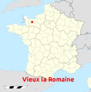 Location of the Ancient city of Aregenua - Vieux la Romaine