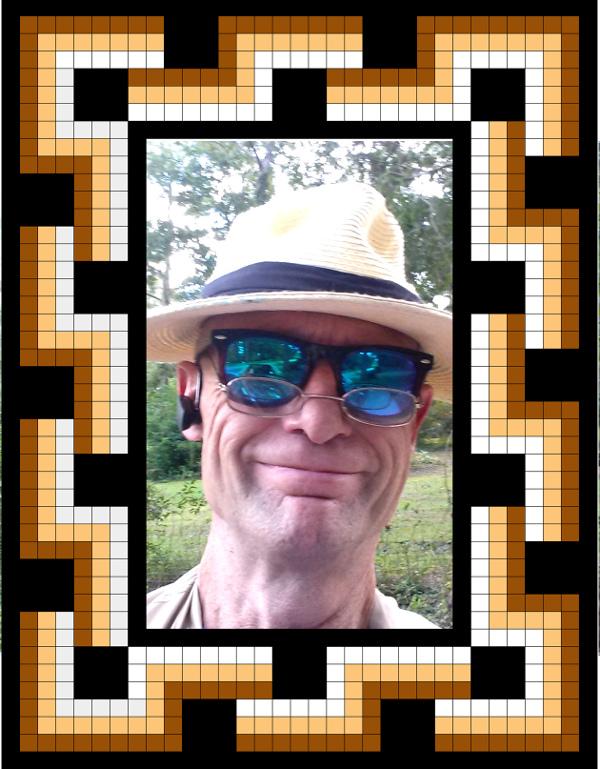 Djemila mosaic border