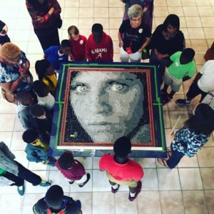 Mystery mosaic unveiled, Wiregrass Museum of Art 2016