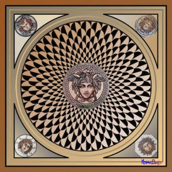 Medusa square design by artist Frederic Lecut