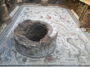 House of the Dolphins or Terramar - The mosaic well