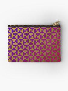 pouch printed with patterns of Amba Aradam mosaic. Christmas Stuffer