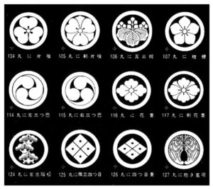 traditional Japanese mom or family crests