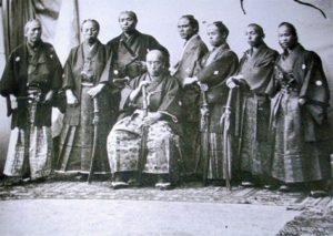 Samurai wearing Montsuki garments