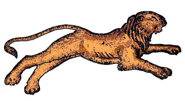Caesarea mosaic Lion drawing