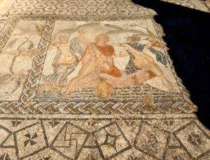 The rapt of Hylas mosaic, House of Venus, Volubilis, 2nd century AD