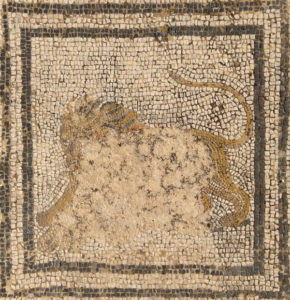 LIon from the big cats mosaic, Volubilis, Morocco, 2nd century AD