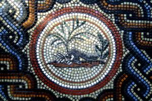Lepus Vexus mosaic medallion