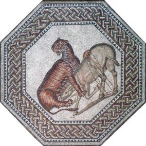 Villa Nennig, Tiger vs Onager mosaic