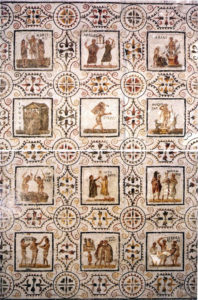 mosaic of the seasons, El Djem