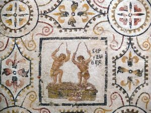 September, mosaic of the months, Sousse, Tunisia