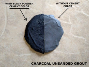 colored and uncolored charcoal unsanded grout
