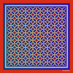 Wearable art : Silk Scarves inspired by a ROman mosaic from Chedworth, UK