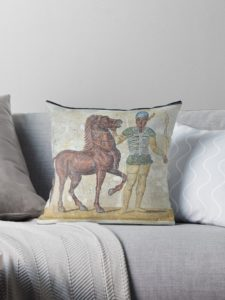 Green Charioteer pillow pilllow on Redbubble