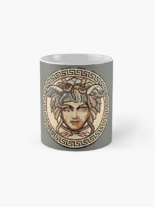 Medusa mug sold on Redbubble