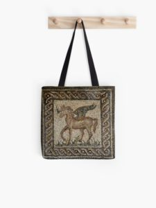 Pegasus mosaic bag from Cordoba sold on Redbubble