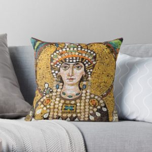 THeodora mosaic Pillow on Redbubble