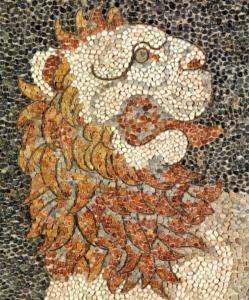Lion Head, Pebble mosaic in Pappalardo book